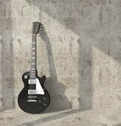 Papier peint guitare sur le mur