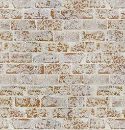 Ochre brick wallpaper