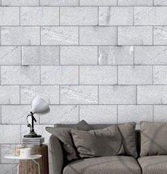 Papier peint pavés gris
