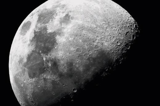 Tableau moon noir et blanc