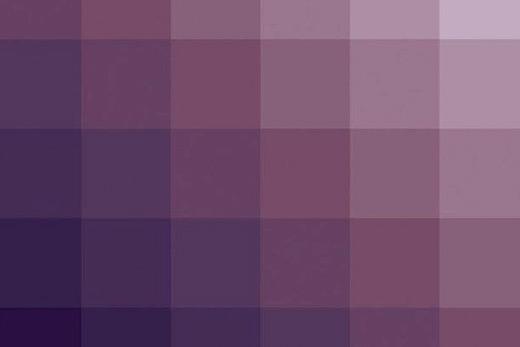 Tableau pixels pourpre