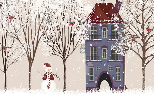 Papier peint dessin de Noel