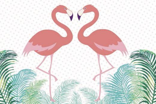 Tableau flamingo in love