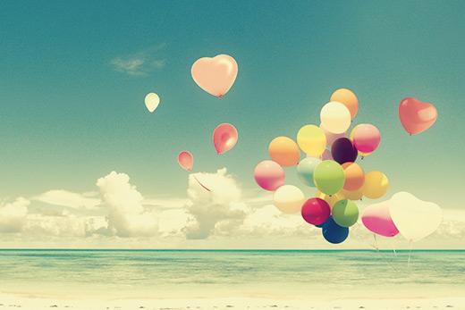 Tableau ballons romantiques