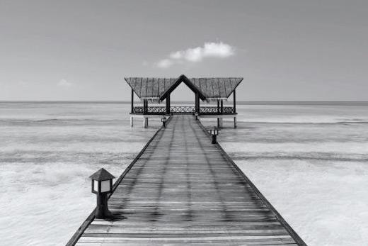 Tableau Bora Bora zen