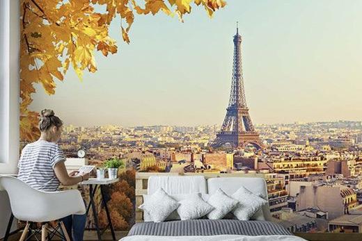 Papier peint chambre Tour Eiffel
