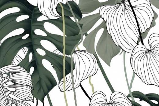 Motif papier peint tropical