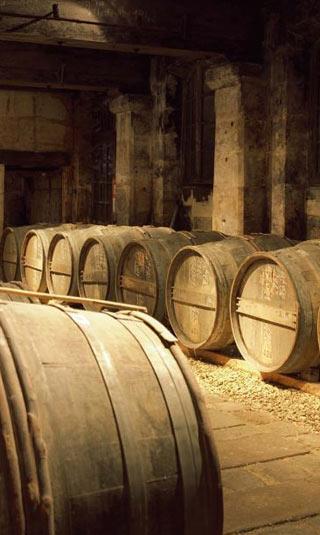 Papier peint cave à cognac