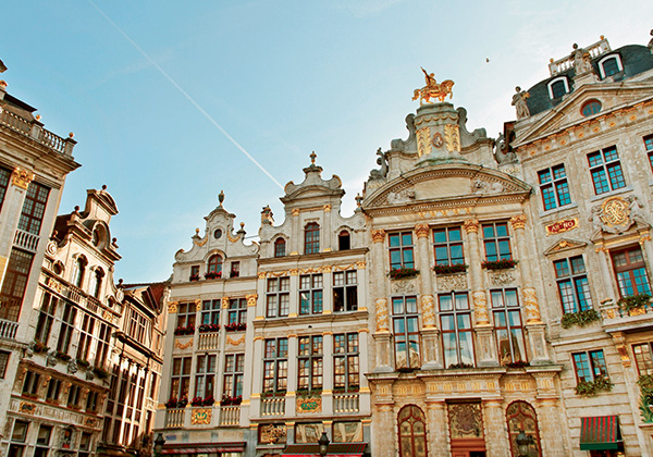 Giant photo of Brussels
