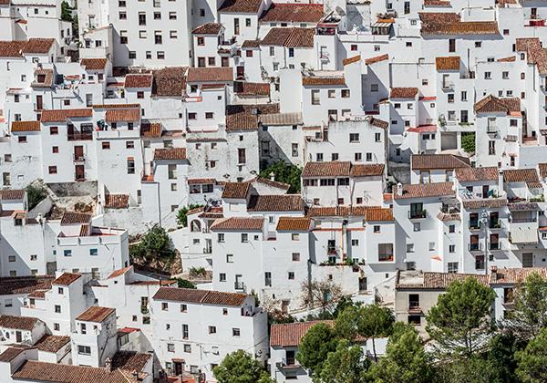 Papier peint ville blanche