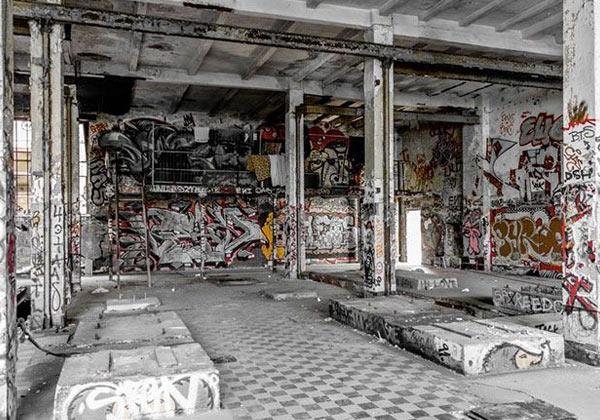 Ambiance déco murale industriel urbex