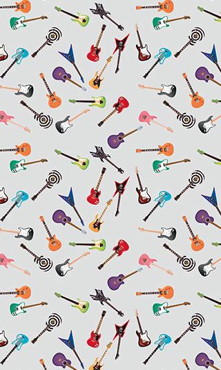 Tenture suspendue guitares