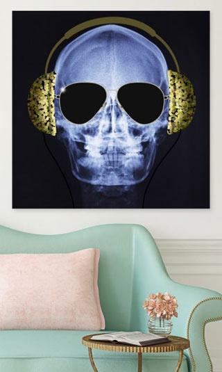 Tableau tête de mort design