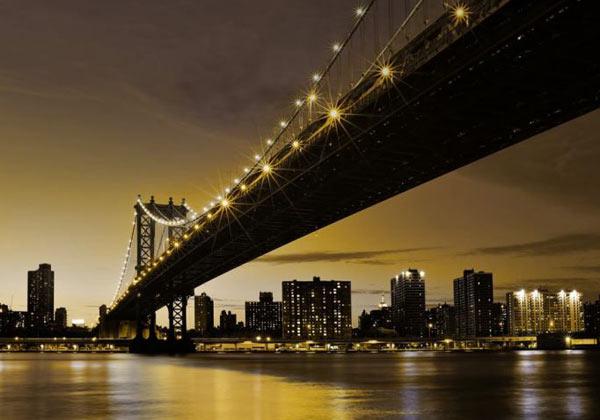 Papier peint Manhattan de nuit
