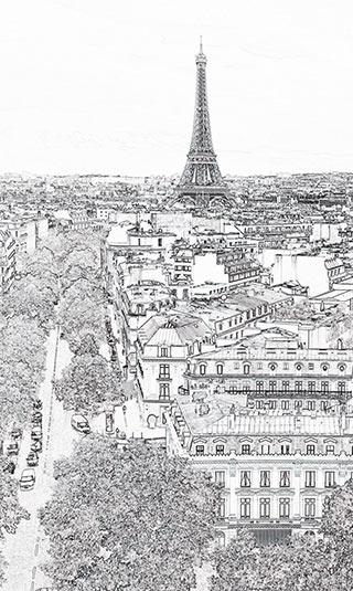 Papier peint Paris éternel