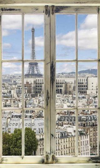 Tableau fenêtre sur Paris