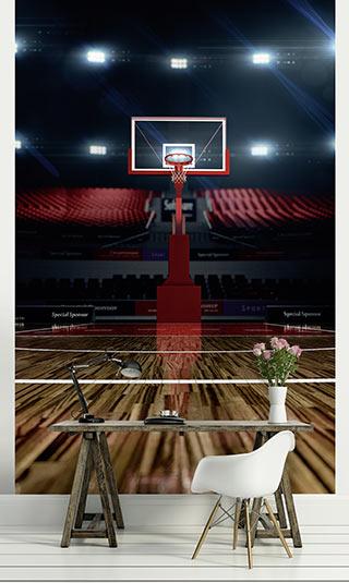 Tenture suspendue salle de basket