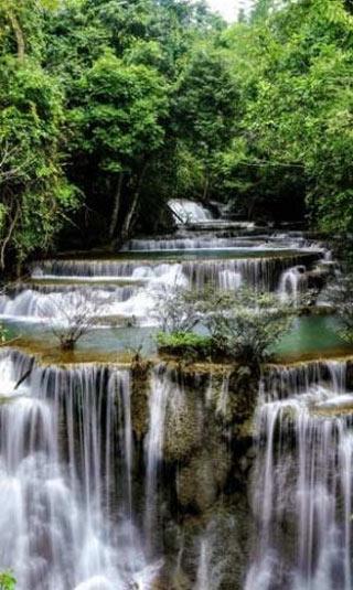 Zen small waterfall poster