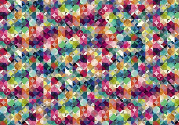 Papier peint design motif coloré