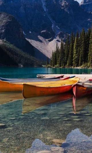 Tenture murale Canada paysage multicolore
