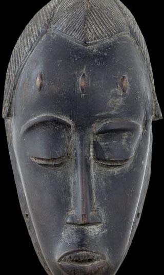 Black African mask canvas print