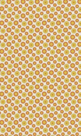 Papier peint orange et jaune