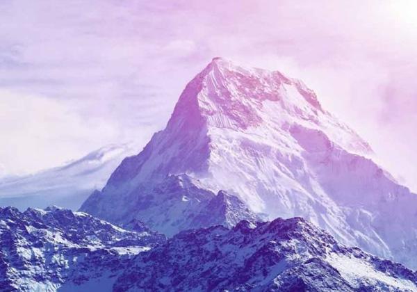 Papier peint montagne rose