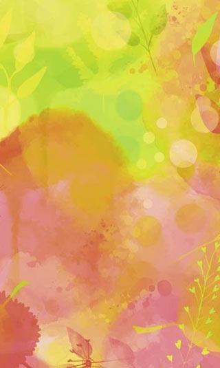 Papier peint nature aquarelle rose