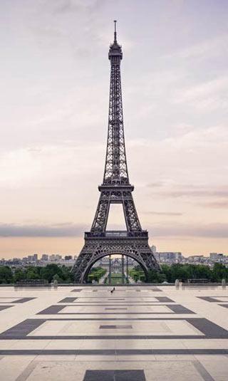 Poster Paris romantique