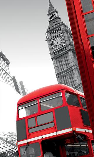 Déco murale rouge Londres