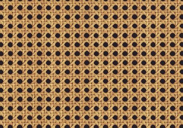 Lé de papier peint cannage marron et baige