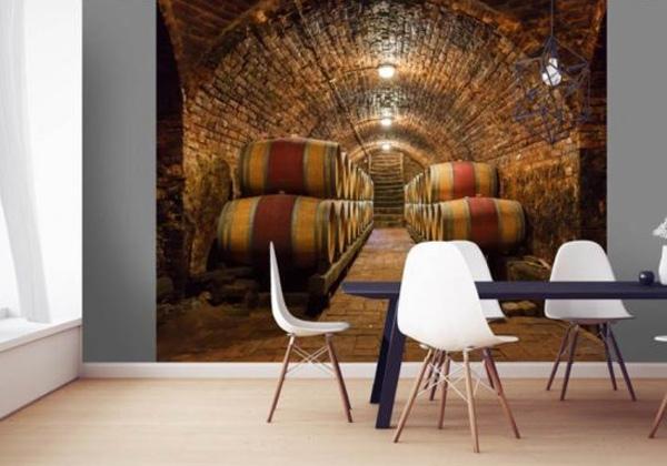 Poster cave à vin marron