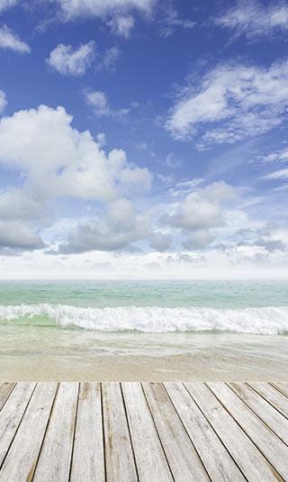 Déco murale Planches sur mer