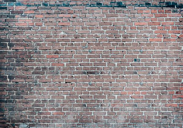 Papier peint mur de brique effet vintage