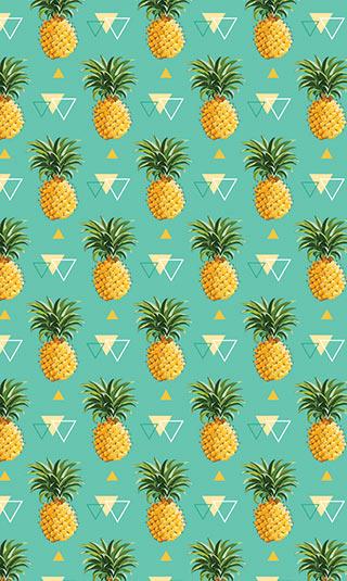 Papier peint ananas