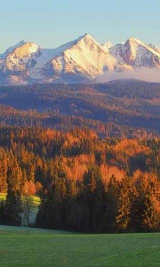 Tableau montagne en automne