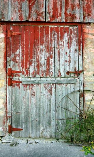 Tenture porte de ferme