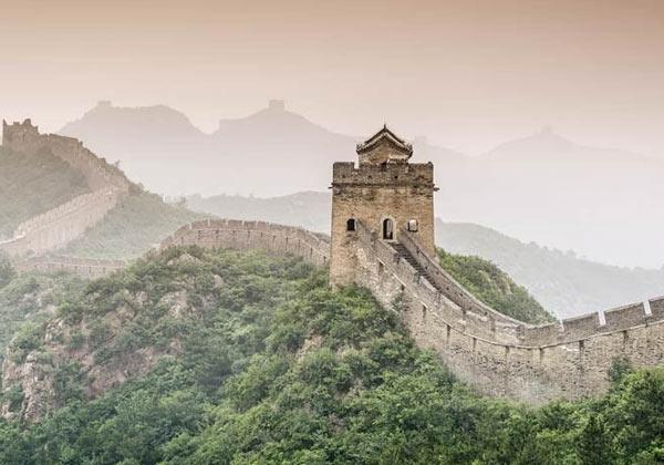 Papier peint paysage muraille de Chine
