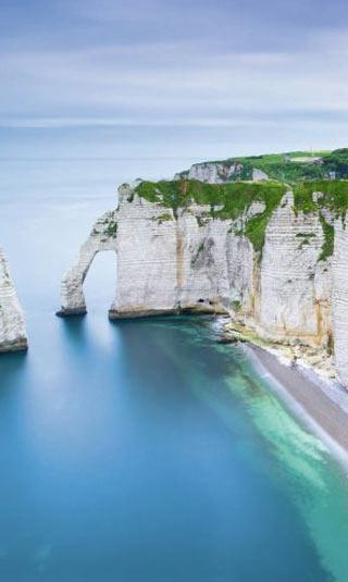 Tableau nature falaise de l'Atlantique