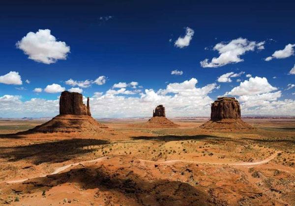 Papier peint désert américain Monument Valley