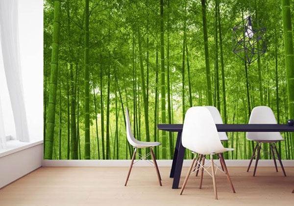 Papier peint bambou cuisine
