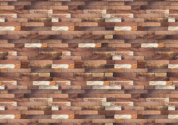 Precious wood privacy screen