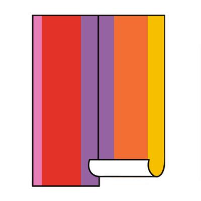 Coloured wallpaper