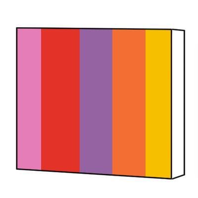 Coloured canvas print
